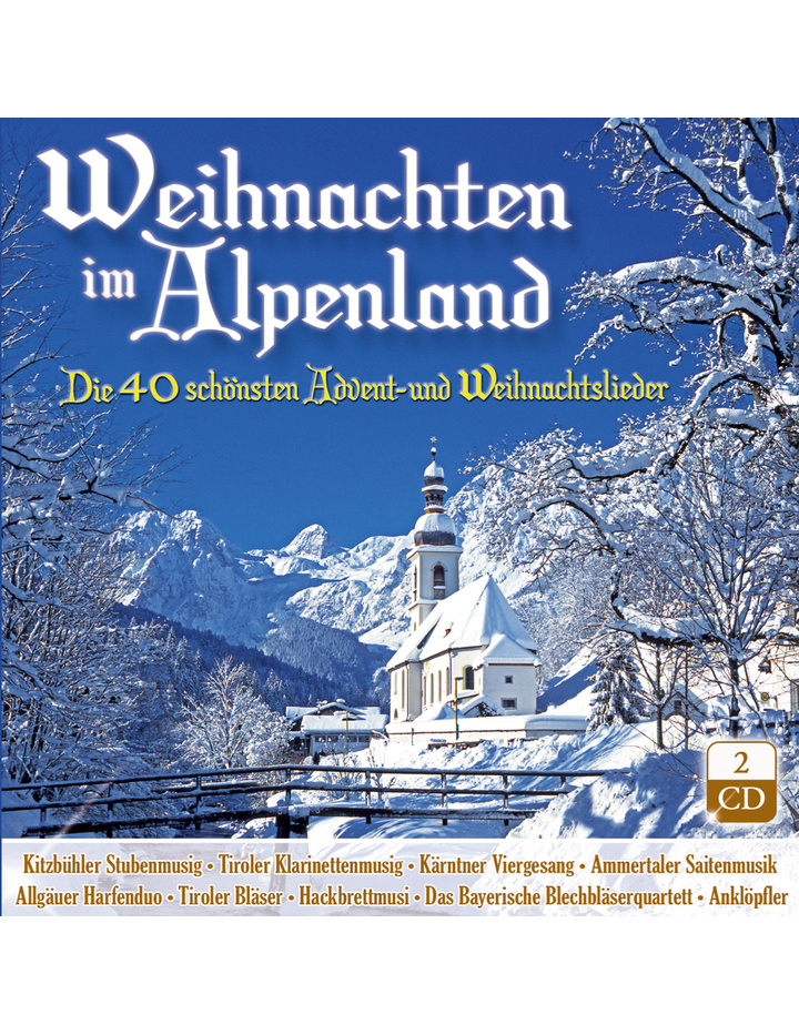 Cd Weihnachten.Weihnachten Im Alpenland Die 40 Schönsten Advent Und Weihnachtslieder 2cd